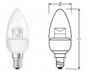 Osram - LED STAR CLASSIC B 25 - E14 - 4W - 250lm - Warmweiß/2700K