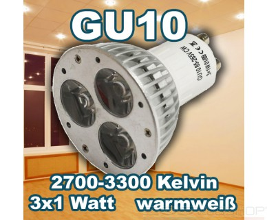 Synergy21 - MR16 4x1W - GU10 - 3W - 240lm - warmweiß - 30°