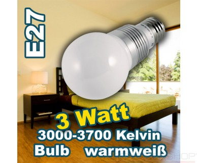 Synergy21 - LED Birne - E27 - 3W - 264lm - warmweiß - 320°