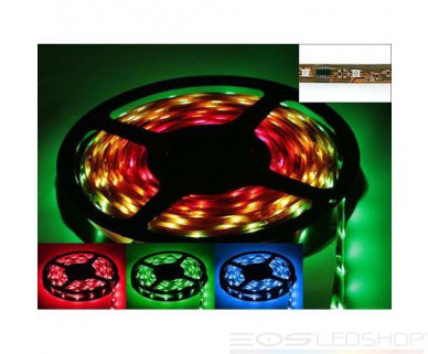 LED-Strip 5050 in Silikon-Gehäuse - RGB - IC - 12V - 12-24W - 5m - IP 63