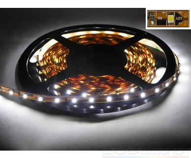 LED-Strip 3528 - kaltweiß 7250K - 12V - 48W - 5m - IP 20
