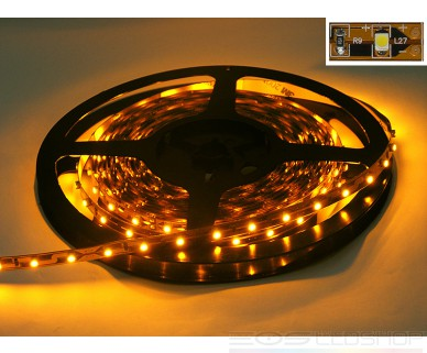 LED-Strip 3528 - gelb 590nm - 12V - 24W - 5m - IP 20
