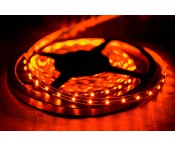 LED-Strip 3528 - orange 605nm - 12V - 24W - 5m - IP 20